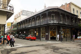 One of the streets in the french quarter in New Orleans — Stock Photo