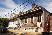 Houses in the Treme-Lafitte district of New Orleans city, — Stock Photo