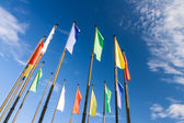 Flags in wind — Stock Photo