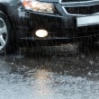 Stock Photo: Car in downpour