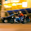 Stock Photo: Motorcyclist at night