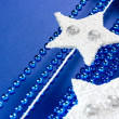 White stars on blue — Stock Photo