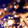 Stock Photo: Wintery holiday lights