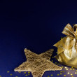 Santa bag with decorative star — Stock Photo
