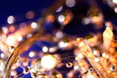 Wintery holiday lights — Stock Photo