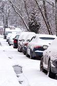 Winter in city — Stock Photo