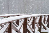 Snow covered bridge — Foto de Stock
