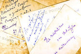 Old hand written postcards — Stock Photo
