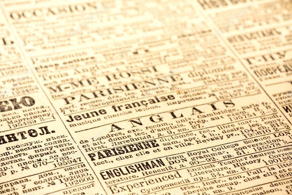 Antigua Página De Periódico