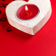 Red candle — Foto Stock