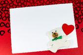 Valentine bear with heart — Stock Photo