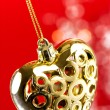 Stock Photo: Golden heart with rope