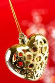 Coeur d'or avec corde — Photo