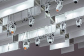Row of stage lights — Stock Photo
