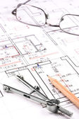 Architect plan — Stock Photo