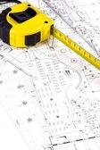 Architekt-Arbeitsbereich — Stockfoto