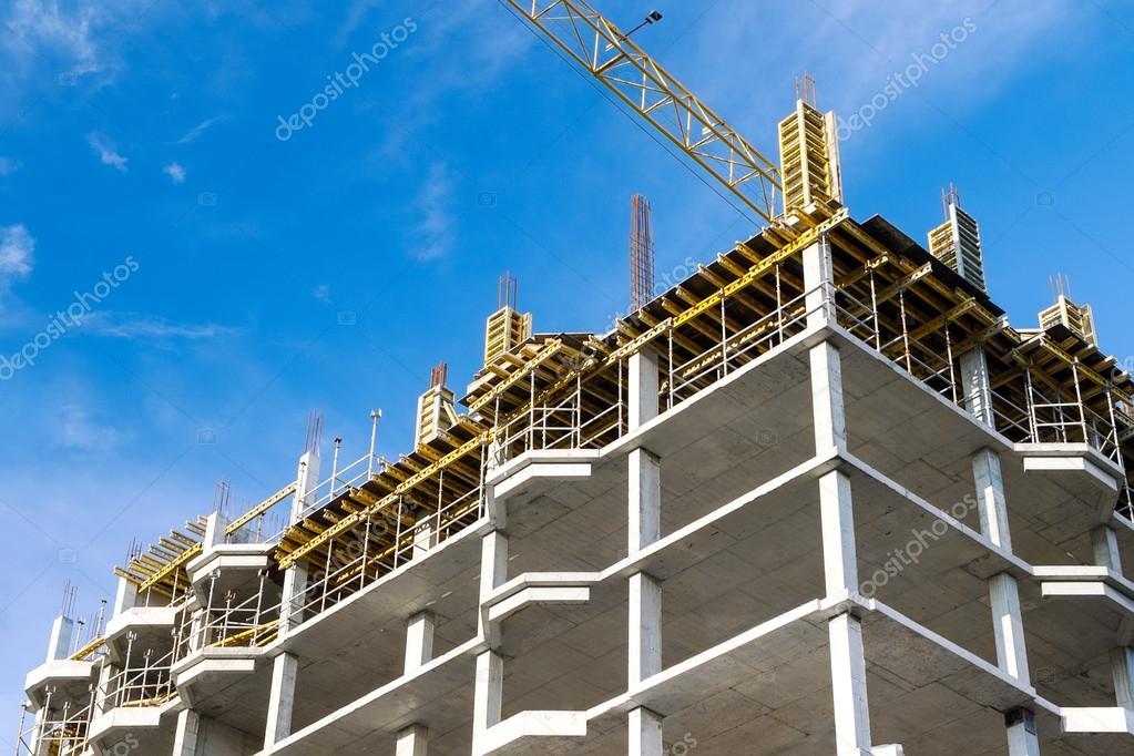 b timent en cours de construction en b ton photographie mrtwister 22099495. Black Bedroom Furniture Sets. Home Design Ideas
