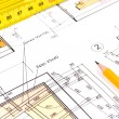House construction plan — Stock Photo