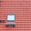Stock Photo: Red roof and window