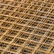 Rebar grid background — Stock Photo