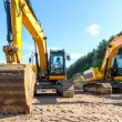 Heavy construction machines - Foto Stock