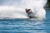 Jet ski in action — Stock Photo