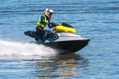 Men on jet ski — Stock Photo