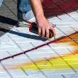 Painting on sidewalk — Stock Photo #27385177