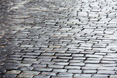 Wet cobbled road — Stock Photo