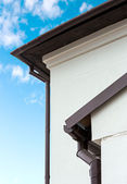 Roof and gutter — Stock Photo