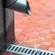 House roof and gutter — Stock Photo