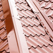 New metal roof — Stock Photo