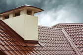 Red home roof — Stock Photo