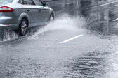 Wet weather driving — Stock Photo