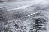 Влажная улица — Стоковое фото