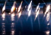 在雨中驾驶 — 图库照片