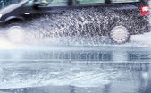 Car splashes — Stock Photo