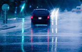 Driving in rain — Stock Photo