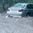 Flooded car — Stock Photo