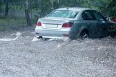 Flooded car — Stock Photo