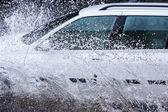Car splash — Stock Photo