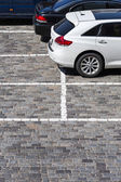 Stone paved parking lot — Stock Photo