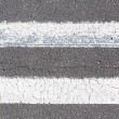 White line divider — Stock Photo