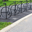 Bicycle rack — Stock Photo