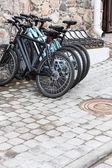 Stationary bikes — Foto Stock