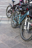 Bicycles parked — Stock Photo