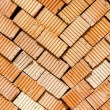 Stack of red bricks — Stock Photo