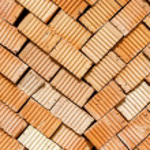 Stack of red bricks — Stock Photo