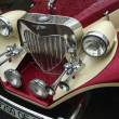 Classic car close up front view — Stok fotoğraf