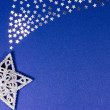 Glittery Christmas star — Stock Photo